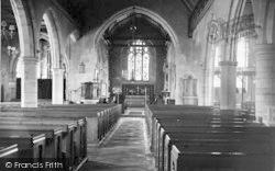 Goudhurst, St Mary's Church Interior c.1955