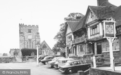 Goudhurst, The Church And The Star And Eagle Hotel c.1960