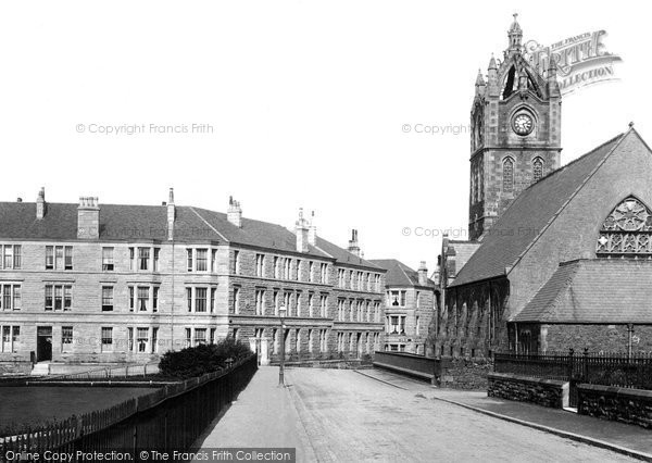Gourock, Castle Mansions and Free Church 1900