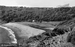 Gower, Peninsula, Pwlldu Bay c.1962