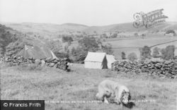 Gradbach, North West From Peter Watson Camping Grounds c.1955