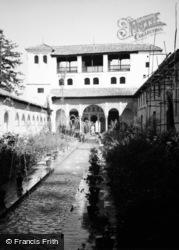 Granada, Generalife 'court Of The Pool' 1960