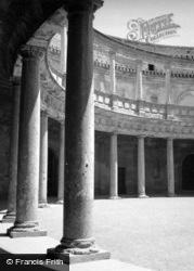 The Alhambra, Courtyard Of Charles V's Palace 1960, Granada