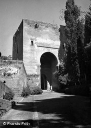 The Alhambra, Gate Of Justice 1960, Granada