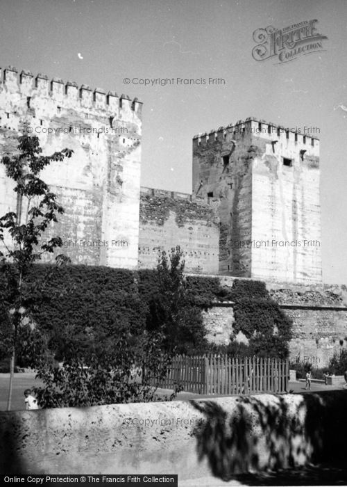 Photo of Granada, The Alhambra, Towers Of The Citadel 1960