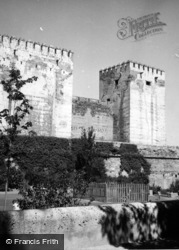 The Alhambra, Towers Of The Citadel 1960, Granada