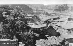 A Glimpse Of The Colorado River From The Rim Road c.1930, Grand Canyon