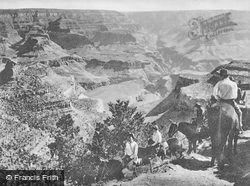 A Trail Party Descending c.1930, Grand Canyon