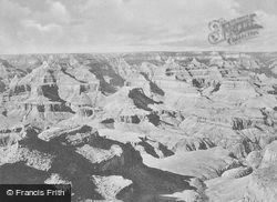 A View Of ''the Battleship'' From El Tovar c.1930, Grand Canyon