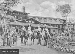 Riding Party Leaving El Tovar c.1920, Grand Canyon