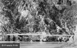Suspension Bridge Over The Colorado River c.1935, Grand Canyon