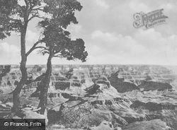 The Sentinels, A View From El Tovar c.1930, Grand Canyon