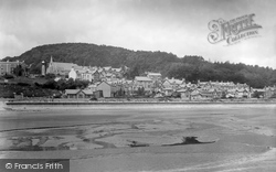 Grange-Over-Sands, Crown Hotel From The Sands 1934