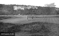Grange-Over-Sands, The Golf Links And The Grand Hotel 1927, Grange-Over-Sands