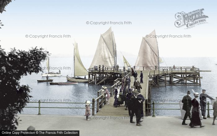 Grange-Over-Sands, the Pier 1914.  (Neg. 67426t)  © Copyright The Francis Frith Collection 2008. http://www.francisfrith.com