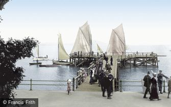 Grange-over-Sands, the Pier 1914