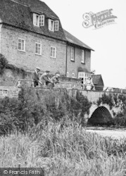 Grantchester, Fishing By The Mill c.1946