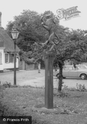 The Red Lion Sign c.1965, Grantchester