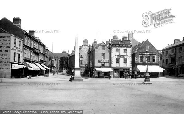 Photo of Grantham, Market Place 1893