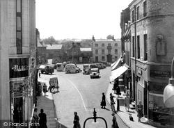 Grantham, Market Place c.1955