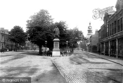 St Peter's Hill And The Tollemache Statue 1893, Grantham