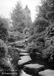 Gardens, Stepping Stones c.1937, Grantley Hall