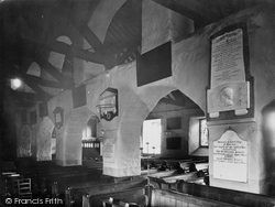 Grasmere, Church Interior And William Wordsworth's Memorial Tablet 1929