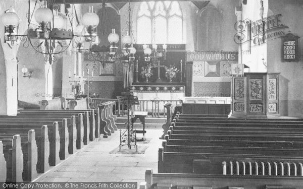 Photo of Grasmere, St Oswald's Church Interior 1912