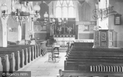 Grasmere, St Oswald's Church Interior 1912