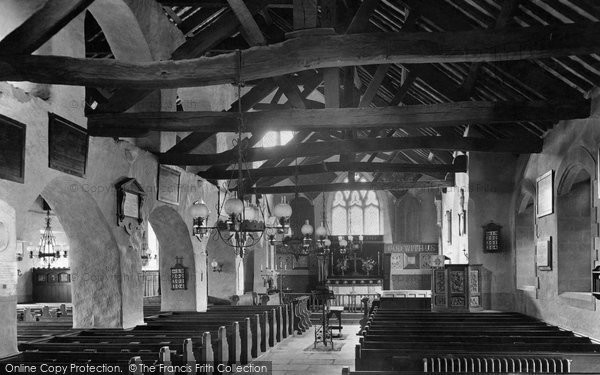 Photo of Grasmere, St Oswald's Church, The Interior 1912