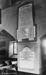 Grasmere, The Church Of St Oswald, William Wordsworth's Memorial Tablet 1929