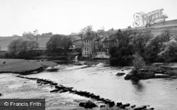 Stepping Stones And Old Mill c.1950, Grassington