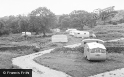 Grassington, The Caravan Site, Netherside c.1955
