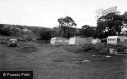 Grassington, The Caravan Site, Netherside c.1955