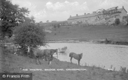Grassington, The Wharfe, Bridge End c.1910