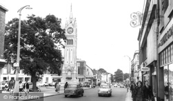 Milton Road And The Clock Tower c.1965, Gravesend