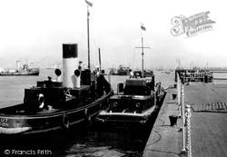 Gravesend, Riverside View From Royal Terrace Pier c.1955