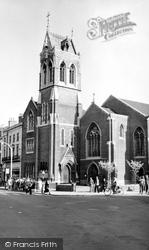 Gravesend, St John's Church c.1955