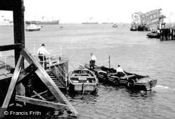 Gravesend, Thames Shipping Scene Looking Downriver c.1955