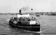Gravesend, The River Thames, The Ferry c.1955