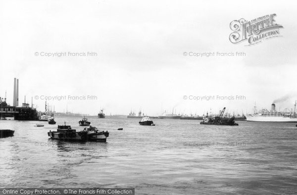 Photo of Gravesend, the Thames from Pilot Station c1965