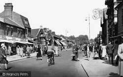 Grays, Orsett Road And Public Library c.1955