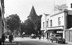 Grays, Parish Church And New Road c.1955