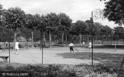 Grays, The Park Tennis Court c.1955
