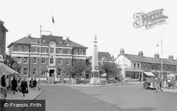 Grays, The War Memorial And Police Station c.1945