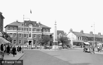 Grays, the War Memorial and Police Station c1945