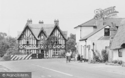 Cyclists At Post Office Corner c.1955, Great Abington