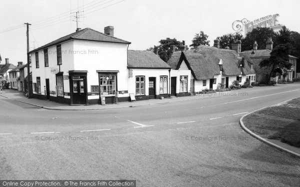 Photo of Great Abington, Post Office Corner c1955