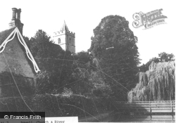 Church From The River c.1955, Great Amwell