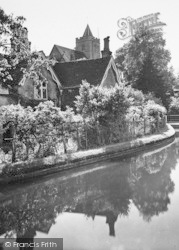 St John's Church And Canal 1929, Great Amwell
